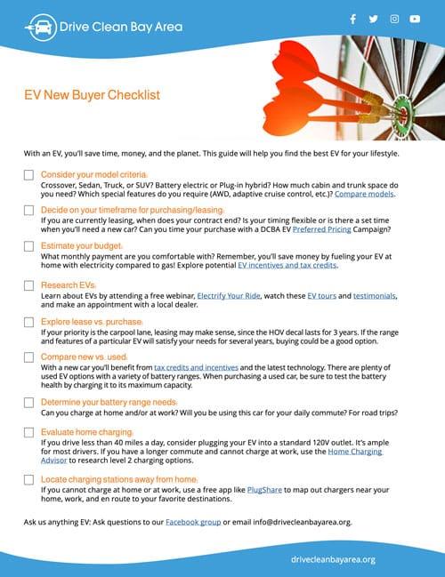 EV Buyers Checklist